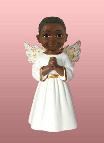 cute african american cherub figurine