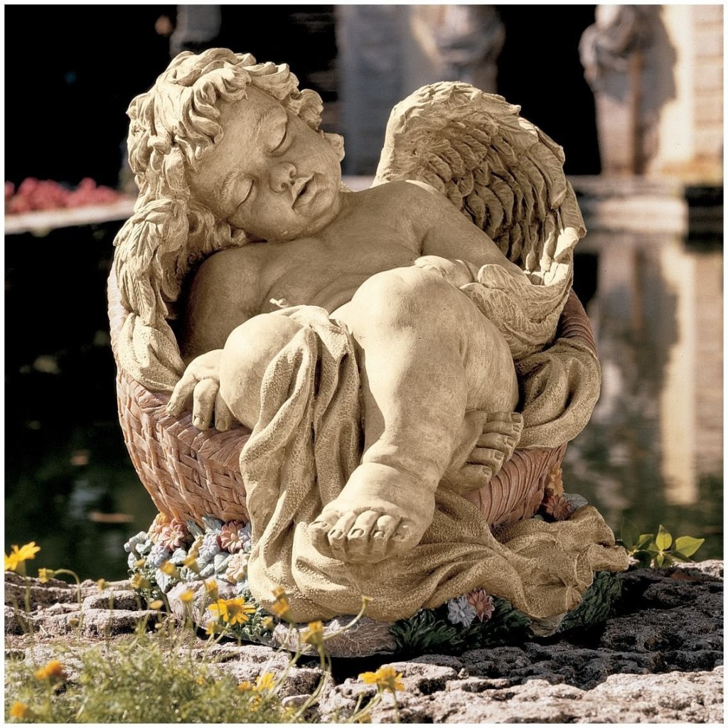 Classic Sleeping Cherub Baby Angel Home Garden Statue