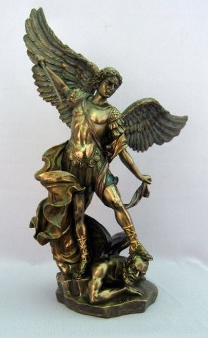 Large Bronze Michael the Archangel Statue