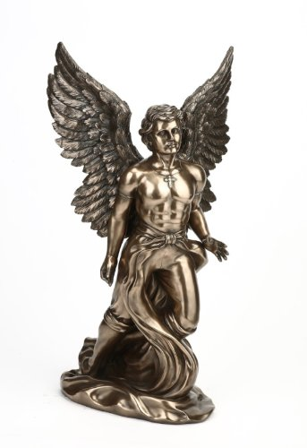 Large Male Bronze Angel Statue