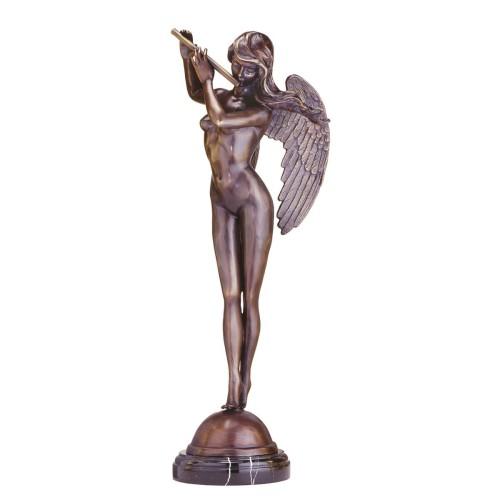 nude female angel statue
