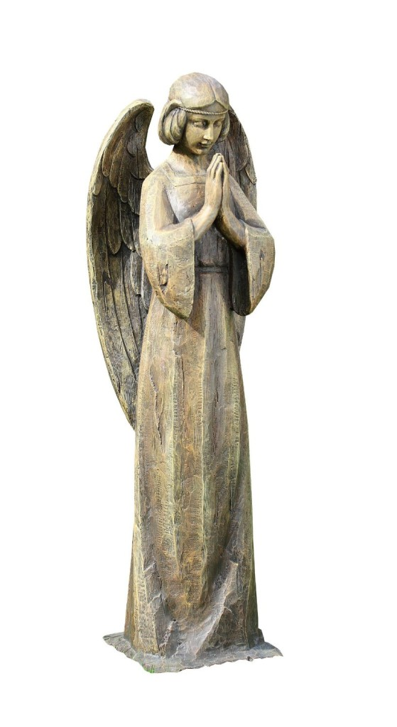 Rustic Peaceful Praying Angel Statue