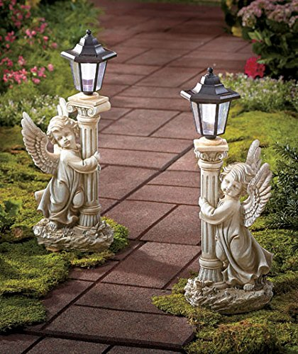 Set of 2 Solar Angel Garden Lanterns - Path Lights