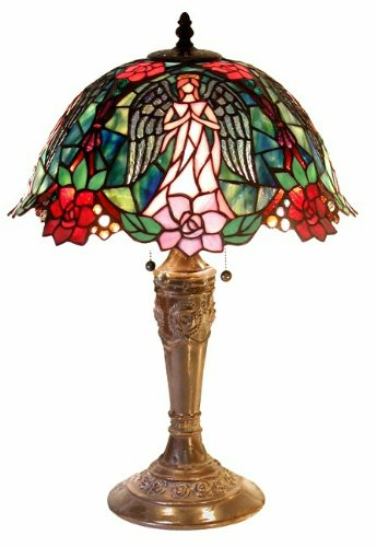 glass angel table lamp