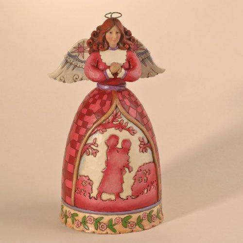 Jim Shore Heartwood Creek Mother Daughter Silhouette Angel Figurine