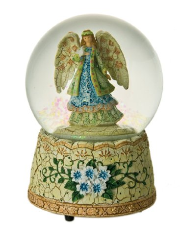 Beautiful Snow Globe Angel Music Box