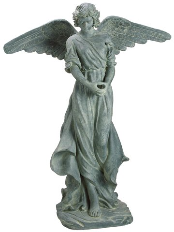 Reflective Classic Style Tall Praying Angel Outdoor Garden Statue