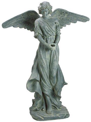 angel garden statue. reflective classic style tall praying angel outdoor garden statue
