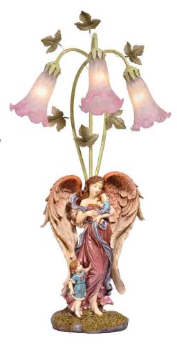 Perfect Elegant Colored Angel Candelabra Lamp