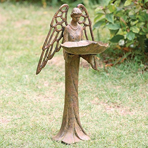 Cast Iron Angel Bird Feeder