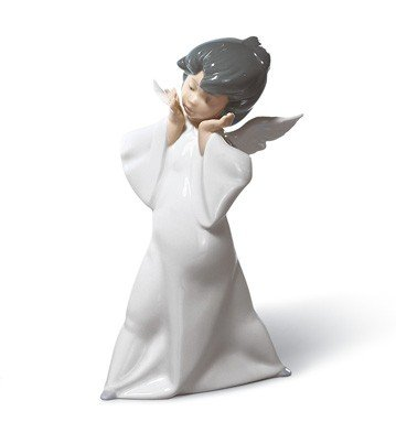 MIME ANGEL Lladro Porcelain Figurine
