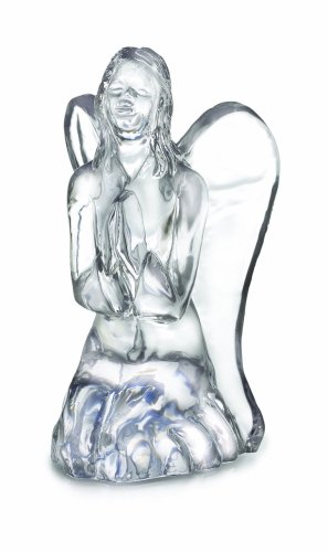Crystal Kneeling Angel Figure
