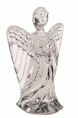 Beautiful Crystal Guardian Angel Sculpture