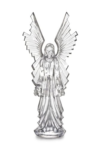 Beautiful Tall Crystal Angel Sculpture