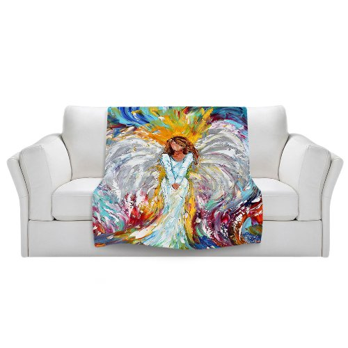 Colorful Angel Throw Blanket